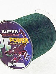 300M / 330 Yards Linha Traçada PE / Dyneema Linhas de Pesca Verde Escuro 28 lb / 18 lb / 10LB / 15LB / 12lb / 22 lb