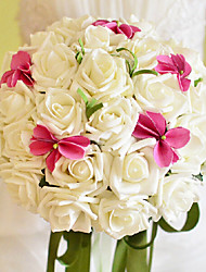 schöne Rose und Phalaenopsis Hochzeitsstrauß