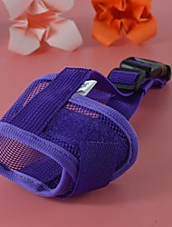 Cat / Dog Muzzle Waterproof Red / Black / Blue / Pink / Purple Nylon