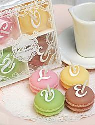 romântico criativo macarons vela