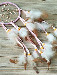 Pink Silk Ribbon Dream Catcher