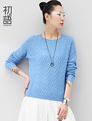 Toyouth ® The spring of 2015  The round collar loose render knitting a sweater