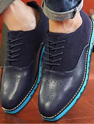 Zapatos de Hombre Casual Semicuero Oxfords Negro/Azul/Marrón