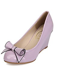 Women's Shoes Round Toe Wedge Heel Pumps with Bowknot Shoes More Colors available