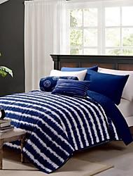 Streifen blau Polyester Quilt
