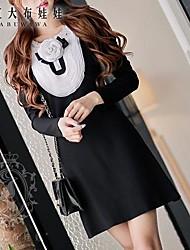 Women's Black Dress , Bodycon/Casual Long Sleeve