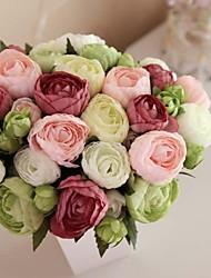 "8.27"" Hand-made Silk Artificial Tea Rose Wedding Bridal Bouquet(More Colors)"
