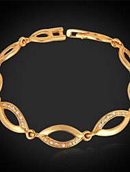 Fancy New Link Bracelet 18K Gold Plated Chain Bracelet Bangle SWA Rhinestone for Women High Quality