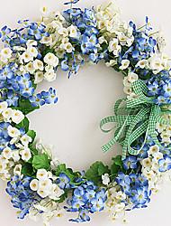 branco e azul pequenas flores decoração pendurado