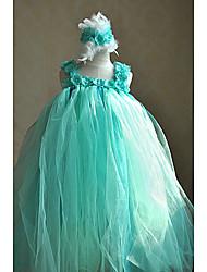 Цветочница платье Бальное платье - На лямках - Длина до пола