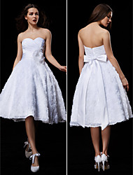 Lanting Ball Gown Wedding Dress - White Knee-length Sweetheart Lace/Taffeta