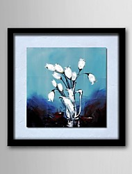 Oil Painting Modern Abstract Flower Hand Painted Natural Linen Solid Wood Frame Frameles Paintings
