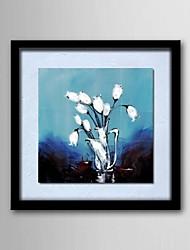 pintura a óleo abstrata moderna flor mão frameles linho natural pintado moldura de madeira sólida pinturas