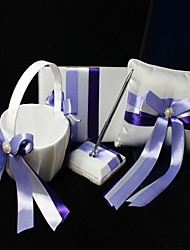 Ribbon Wedding Collection Set with Purple Sash (4 Pieces)