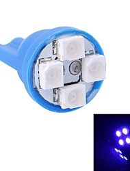 GC® T10 4W 120LM 4×3528 SMD LED Blue Light for Car Instrument Light / Door / Trunk Lamps (DC 12V)