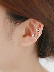 No Hole Bird Diamond Earring