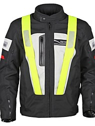 Motoboy Men's Professional Onroad Racing Street 3 Layers Waterproof and Warm Motorcycle Jacket with CE Protectors