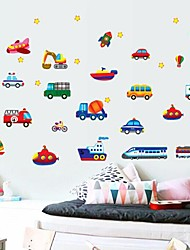 DIY Wall Stickers Wall Decals, Traffic Tools Feature Removable  PVC Wall Stickers