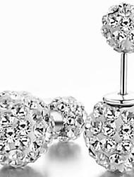 Women's Fashion Shambhala Rhinestone Double Ball Earrings