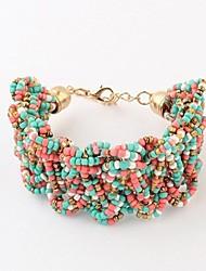 perles de style bohème bracelets (1 pc, noir / multicolores)