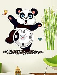 calcomanías de parachoques del reloj de pared de pared, lámpara de la calle con flores y cuentan con batería extraíble pegatinas de pared de pvc