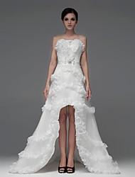 A-line Asymmetrical Wedding Dress -Sweetheart Satin