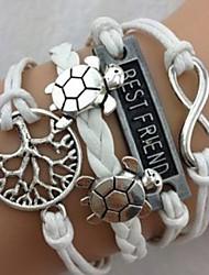 Bracelet - en Alliage - Tous les jours - Charme/Corde tressée