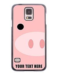 caja del teléfono personalizado - cerdo hocico caso de diseño de metal para i9600 Samsung Galaxy S5