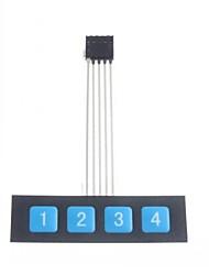 1x4 Tastenmatrix Membranschalter Tastatur ein Tastatur schlank
