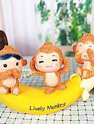 singes mignons et la banane ne décoration mal
