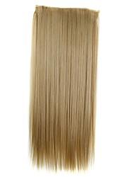 24 pouces 120g long clip droite synthétique dans les extensions de cheveux avec 5 clips morceau de cheveux