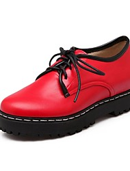 Women's Shoes Round Toe Low Heel Oxfords with Lace-up Shoes More Colors available