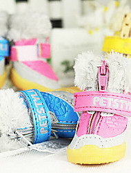 Socks & Boots for Dogs Winter PU Leather