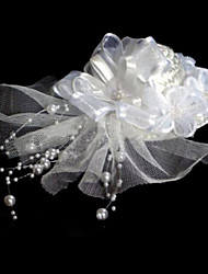 Fashion Bride Silk Flowers Imitation Pearl Headdress Flower Barrettes
