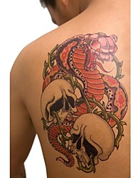 1 Pcs Waterproof Multicolored Large Fancy Dragon and Skeleton Pattern Tattoo Stickers