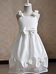 Цветочница платье Трапеция - На лямках - Длина до колен