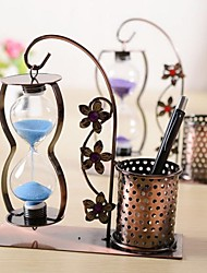 """6.5""""H Modern Style Pen Hourglass Borosilicate Glass Collectible(Random Delivery)"""