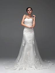 Vestido de Boda - Blanco y Champaña (el Color y Estilo pueden variar según su monitor) Ajustado y Ancho Hasta el Suelo - Sweetheart