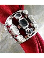 métal avec anneau de cristal de serviette, le fer, 1,77 pouces, un ensemble de 50