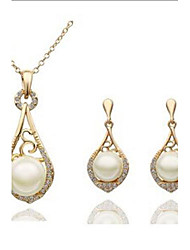 Vintage  pipa earrings + necklace set (1 set)