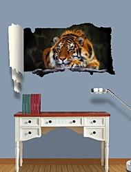 3d Stickers muraux stickers muraux, tigre décor vinyle stickers muraux