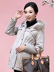 Maternity pregnant women winter coats cotton Korean raccoon fur warm winter cotton padded clothes are thickened cotton