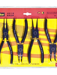 "Bunker Brand Snap Ring Pliers 4pcs As One Set With Size 6""(15cm)"