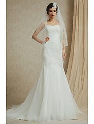 Trumpet/Mermaid Floor-length Wedding Dress -Bateau Satin