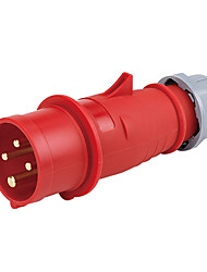 HENNEPPS HN1231 Waterproof Industrial Connector Male Industrial Plug CE 400V 50A 3P+E IP44 6H 10-16mm²