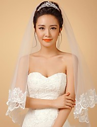The Outer Layer Of Transparent Lace Wedding Accessories  Veils