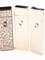Personality Printing Windproof USB Charging Electric Pulse Arc Lighter Electrons Gold Silver Grey