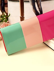 Women's Bright PU Leather Candy Color Long Wallet