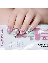 14PCS Cartoon Warm Color Nail Art Stickers MDS1017