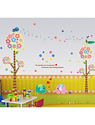Wall Stickers Wall Decals, Style Cartoon Tree PVC Wall Stickers
